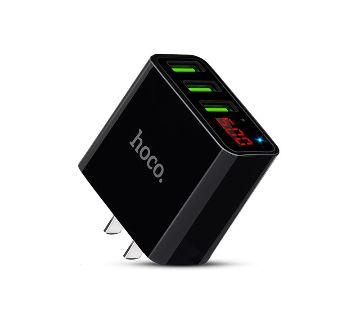 HOCO C15 3A Digital LED 3 USB Ports Charger