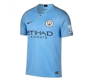 Manchester City Home Short Sleeve Jersey (Copy)