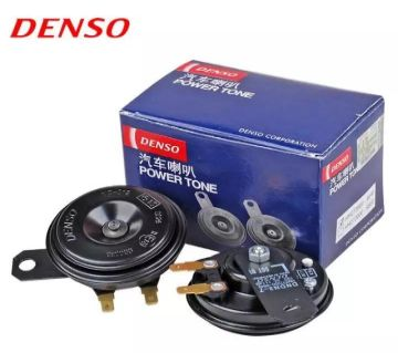 Universal Pack Of 2 Denso Car Horn For Car and Motor Bike in black color . original.