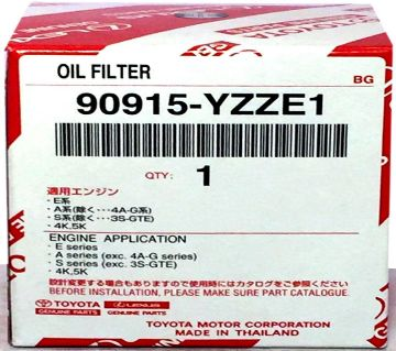 Engine Oil Mobil Filter 90915-yzze1 Single - Black