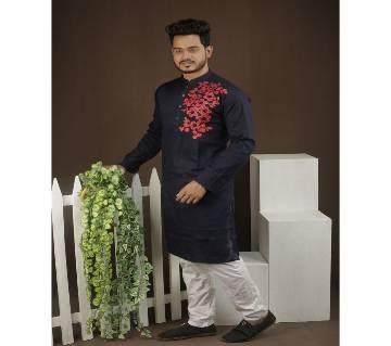 Stylish Cotton Punjabi-192201-Black