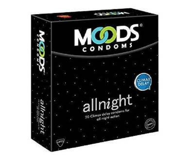 Moods All Night Condom Box- 10 Pack (