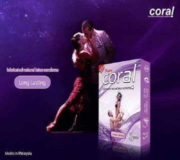 Coral Long Lasting Condom Box- 10 Pack