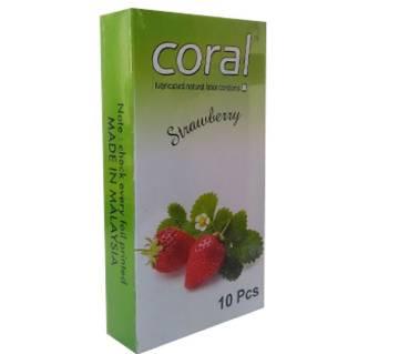 Coral Strawberry Flavor Condom- 2 Pack ( 20 Pcs )