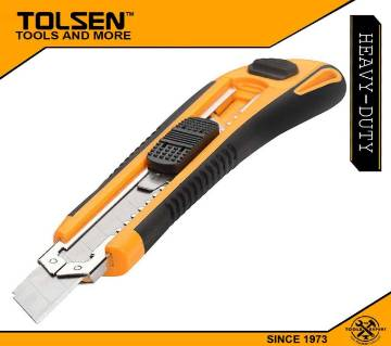 TOLSEN Industrial Snap-off Blade Cutter Knife (18x100mm) with 3pcs Blades Refill 30003