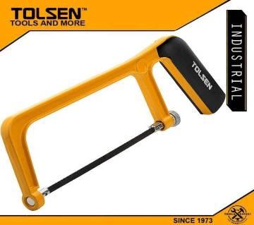 "TOLSEN Mini Hacksaw Frame w/ 1pc Free Blade (150mm, 6"") TPR Handle 30051"