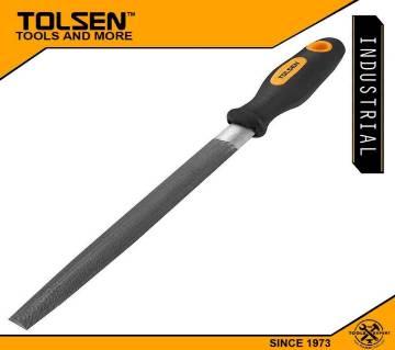 "Tolsen Steel File Half Round (8"") TPR Handle For Metal Work 32005"