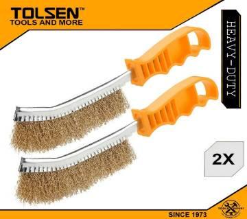 "TOLSEN (2pcs) Universal Stainless Steel Wire Brush, 10"" (250mm) 32060"