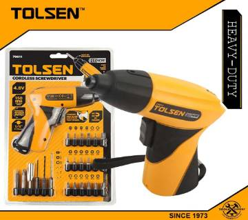 TOLSEN Cordless Drill Screwdriver w/ 24 pcs Accessories (4.8V) Forward & Reverse Switch 79011
