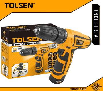 TOLSEN LITHIUM Cordless Drill w/ Power Light Soft Grip Handle (1300 mAh 10.8V) GS & TUV Approved 79013