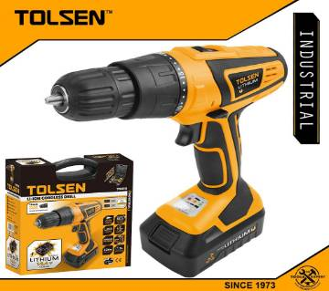 TOLSEN Industrial LI-ION Cordless Drill w/ 2 Battery, Hard Case & 13pcs Accessories (14.4V) GS & TUV Approved 79016