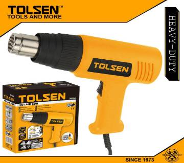 TOLSEN Hot Air Heat Gun Dryer w/ 4 Free Nozzle (2000W) Adjustable Heat Two Level 79100