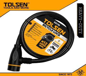 TOLSEN Heavy Duty Bicycle Lock with 2 Iron Keys (12x800mm) 55170