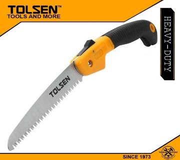 "Tolsen Foldable Garden Saw 7TPI 65mn Blade (180mm, 7"") TPR Handle 31014"