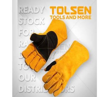 TOLSEN Cow Split Leather Welding Gloves (Size 14) 45026