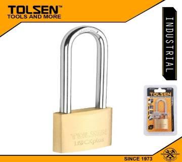 TOLSEN Industrial Long Shackle Brass Padlock Rust Proof with 2/ Keys (40mm 130g) Lock Plus 55109
