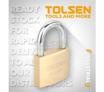 TOLSEN Heavy Duty Brass Padlock 20mm 38g Rust Proof w/3 Keys Industrial Grade 55111