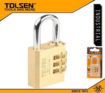 TOLSEN Industrial Combination Brass Padlock with 3 Code Wheels 30mm (115g) 55123