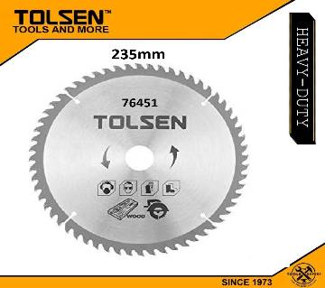 "Tolsen TCT Circular Saw Blade 235mm (9-1/4"") x 60T x 30mm For Wood Cutting 76451"