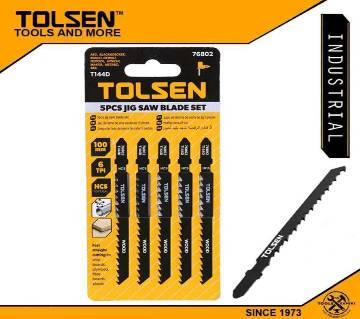 TOLSEN 5pcs Jigsaw Blades Set (100mm 6 TPI) T144D (Wood) Industrial 76802