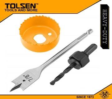 TOLSEN 3pcs Door Lock Knob Installation Hole Saw Set 75868