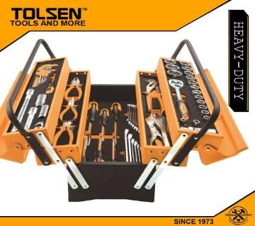 TOLSEN 60pcs Tool Set with Tool Box Heavy Duty 85401