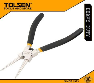 """TOLSEN Internal Circlip Pliers, Straight (180mm, 7"""") Dipped Handle 10077"""