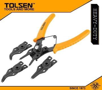 """TOLSEN 4pcs Combination Circlip Plier Set (6"""") 10100"""