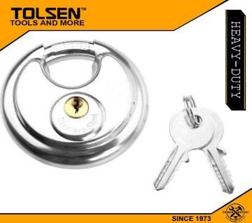 TOLSEN Stainless Steel Disc Padlock with 2Keys (70mm) 55175