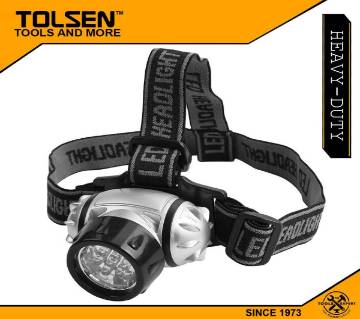 TOLSEN 7LED Headlight with Adjustable Head Strap and Brightness 60011