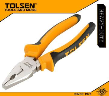 "TOLSEN Combination Pliers 7"" (180mm) TPR Handle 10001"