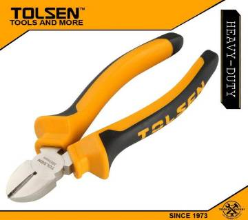 "TOLSEN Diagonal Cutting Pliers, 6"", 160mm TPR Handle 10003"