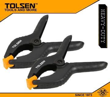"TOLSEN (2pcs) Nylon Spring Clamp (6"") Soft Jaw 10199"