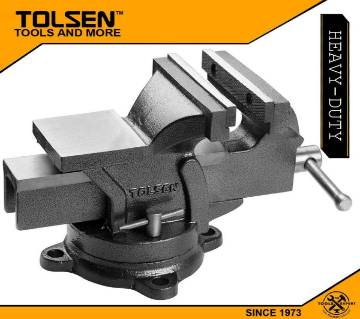 TOLSEN Bench Vice (4inch 100mm) Swivel Base with Anvil 10103