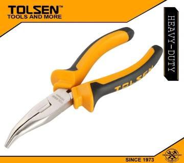 "TOLSEN Bent Nose Pliers (6"") TPR Handle 10008"