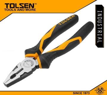 "TOLSEN Combination Pliers (8"") 200mm Industrial GRIPro Series 10017"