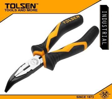 """TOLSEN Bent Nose Pliers 6"""" (160mm) Industrial GRIPro Series 10023"""