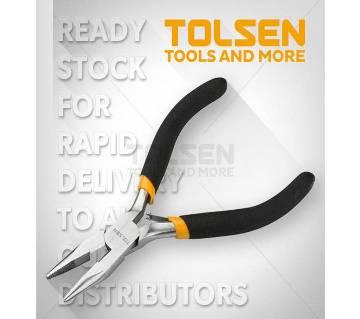 "Tolsen Mini Long Nose Pliers (4.5"") 10031 Bi-Dipped Handle"