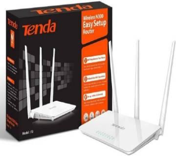 Tenda F3 Wireless Easy Setup Router 300Mbps - White
