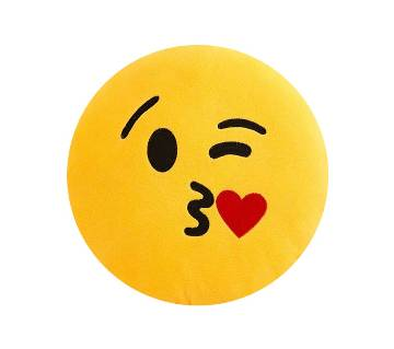 Emoji Pillow Yellow Round Cushion Emoticon