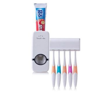 TOOTHBRUSH DISPENSER WITH TOOTHPASTE HOLDER