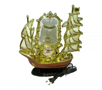 Ship shaped Table Clock