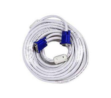 20M Monitor VGA CABLE - White