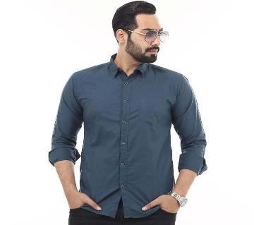 Navy Blue Cotton Casul Shirt for Men