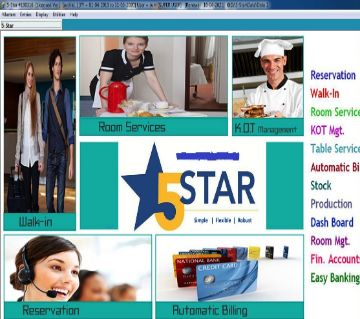 5 Star Hotel Management Software Lifetime Used