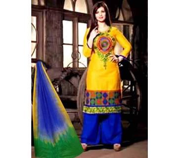 Unstitched Block Printed Cotton Salwar Kameez - Copy