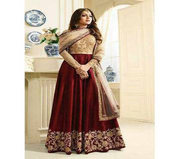 Georgette With Embroidery Gown