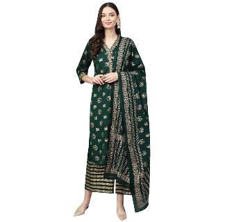 unstitched Cotton With Block Print salwar kameez