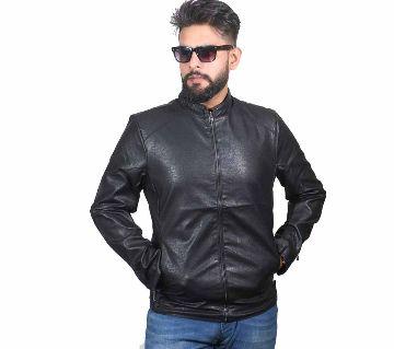 Artificial Leather Jacket For Men (Double Part)