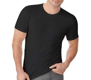 Black T-Shirt for Summer Mans